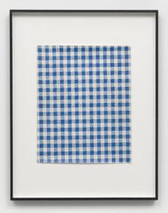 Tischdecke (blau-grau-kariert)