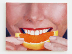 Orange Slice Painting or My Face When you dig down one more layer and it's all about a deeper sort of antagonistic respect for people