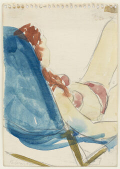 Untitled (woman lying on a deckchair)