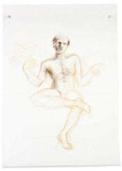 3. Skizze zur Skulptur 'Equilibrium'