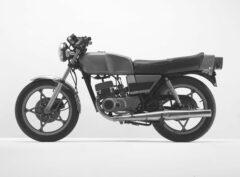Grünes Motorrad (Suzuki)